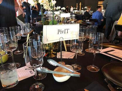 PivIT sponsored table at 2019 Holla Mentors Gala in Portland,