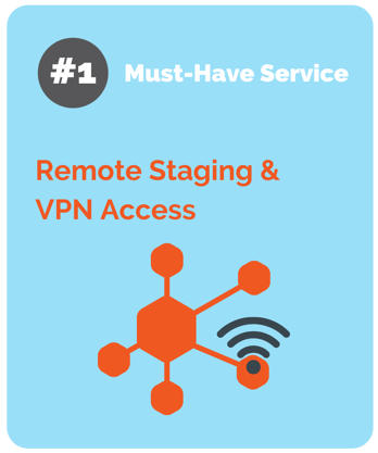 remote staging and vpn access from pivit global