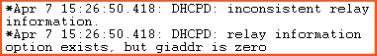 dhcp error 1 debug log from pivit global