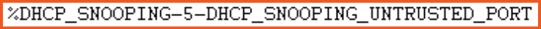 dhcp error 3 debug log snooping untrusted port from pivit global