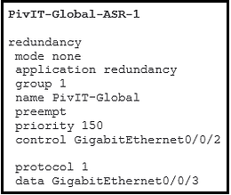 asr 1 redundancy configuration command at pivit global
