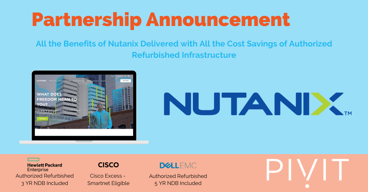 Announcing Nutanix Partnership with PivIT Global