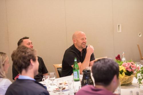 PivIT Global's Justin Sparks and Joe Zender speak at Westmont College's Executive Mentorship Lunch