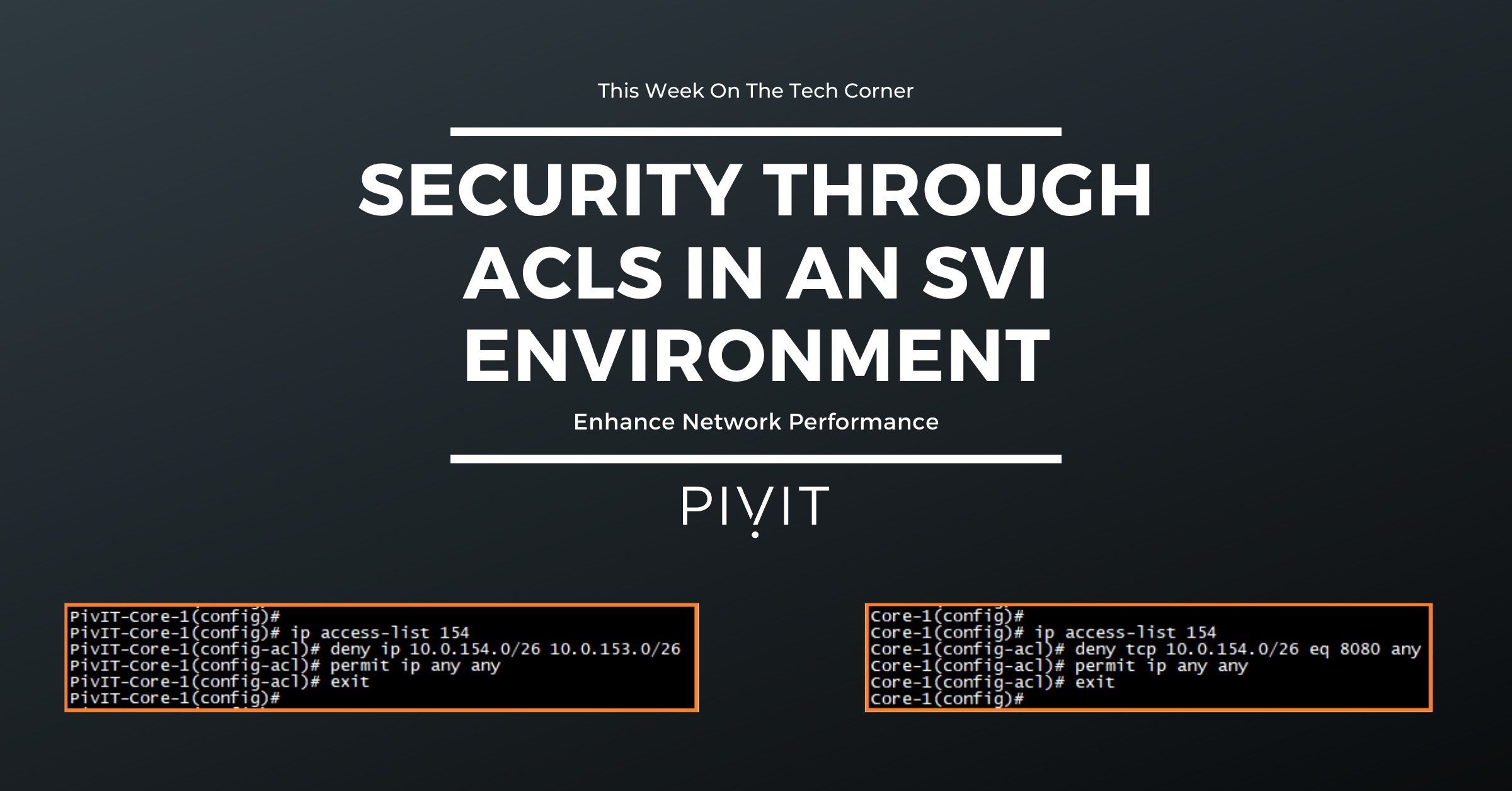 Configure Network Security Using an ACL in SVI Environments