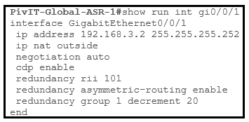 isp facing asr 1 configuration commands at pivit global