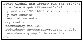 isp facing asr 2 configuration commands at pivit global